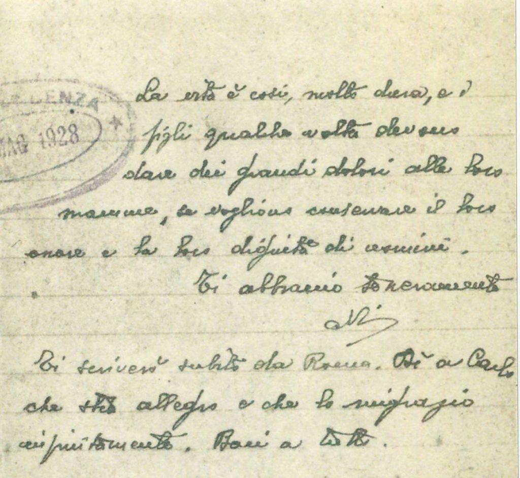 Antonio Gramsci Lettere Dal Carcere: Lettera Alla Madre Peppina Marcias